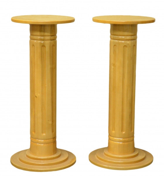 Solid Wood Flower Pedestal Set