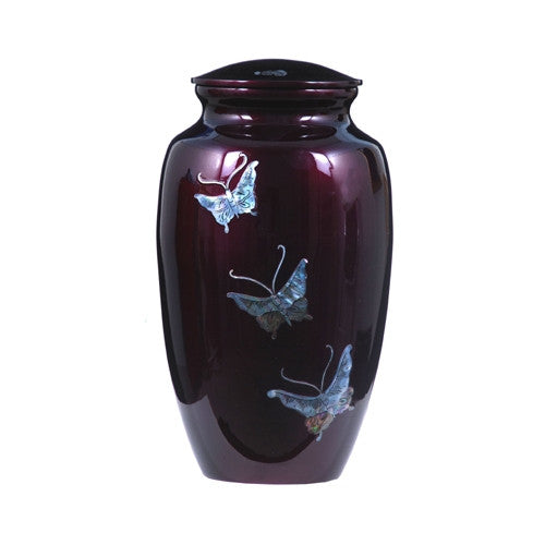 Urn Hand Crafted Butterflies