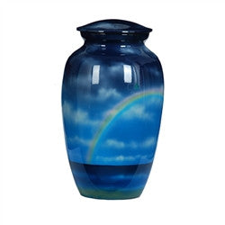 Urn Hand Crafted Rainbow