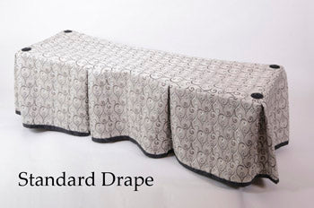 Premium Church Truck Drape in Silver Patterned Fabric