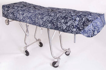 Premium Mortuary Cot Pouch (Full Zip) Blue Pattern Fabric