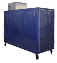 Blue mortuary cooler 3 body morgue cooler