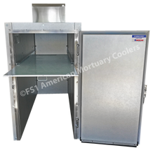 Two body Mortuary Cooler with Slide-Out Body Board (board included)