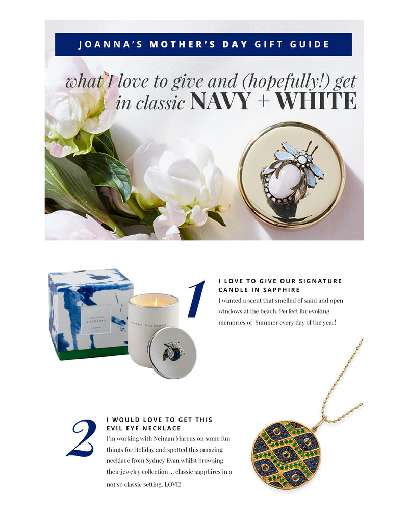 MOTHER'S DAY GIFT GUIDES! NAVY + WHITE