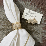 Bunny napkin rings, set of two
