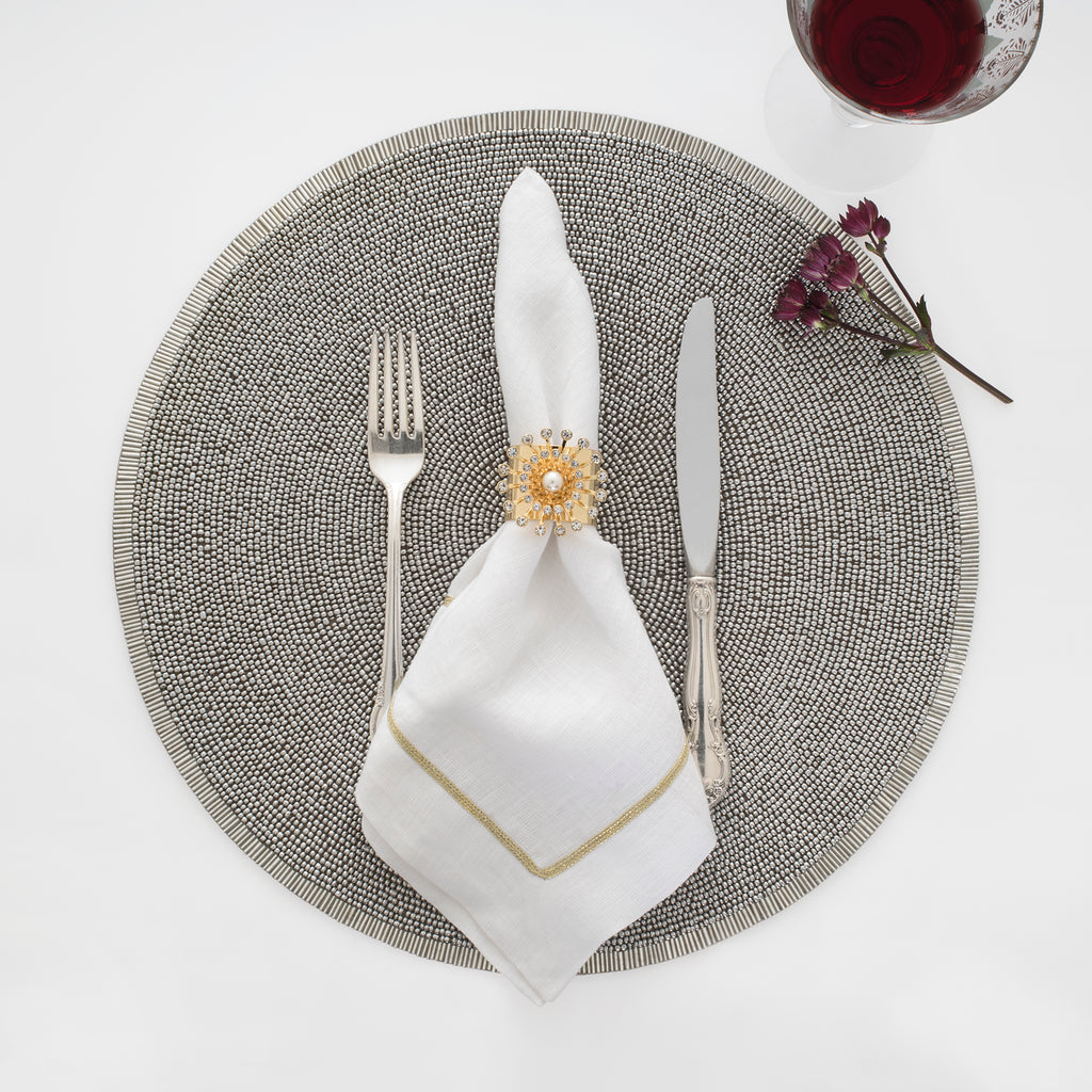Silver placemat