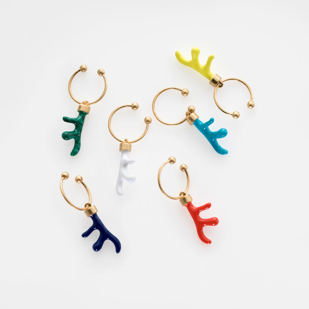 Coral wine charms