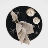 Star placemat, black/silver