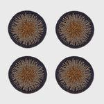 Ombré coasters, navy, set of four