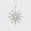 Deco snowflake hanging ornament,  crystal
