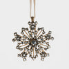 Sparkle snowflake ornament, gold ox