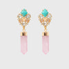 Gem quartz earrings
