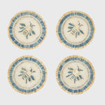 Bee straw coasters, set of four