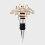 Stripey bee wine stopper