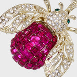Sparkle bee hanging ornament, fuchsia