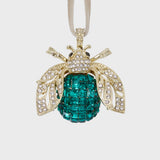 Sparkle bee hanging ornament, emerald