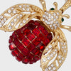 Sparkle bee hanging ornament, ruby