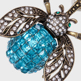 Sparkle bee hanging ornament, turquoise
