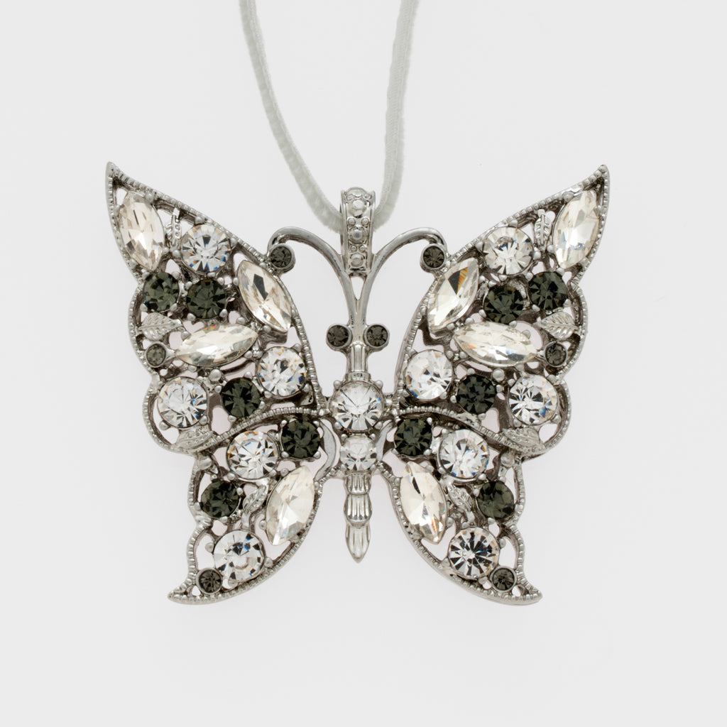 Butterfly hanging ornament, crystal