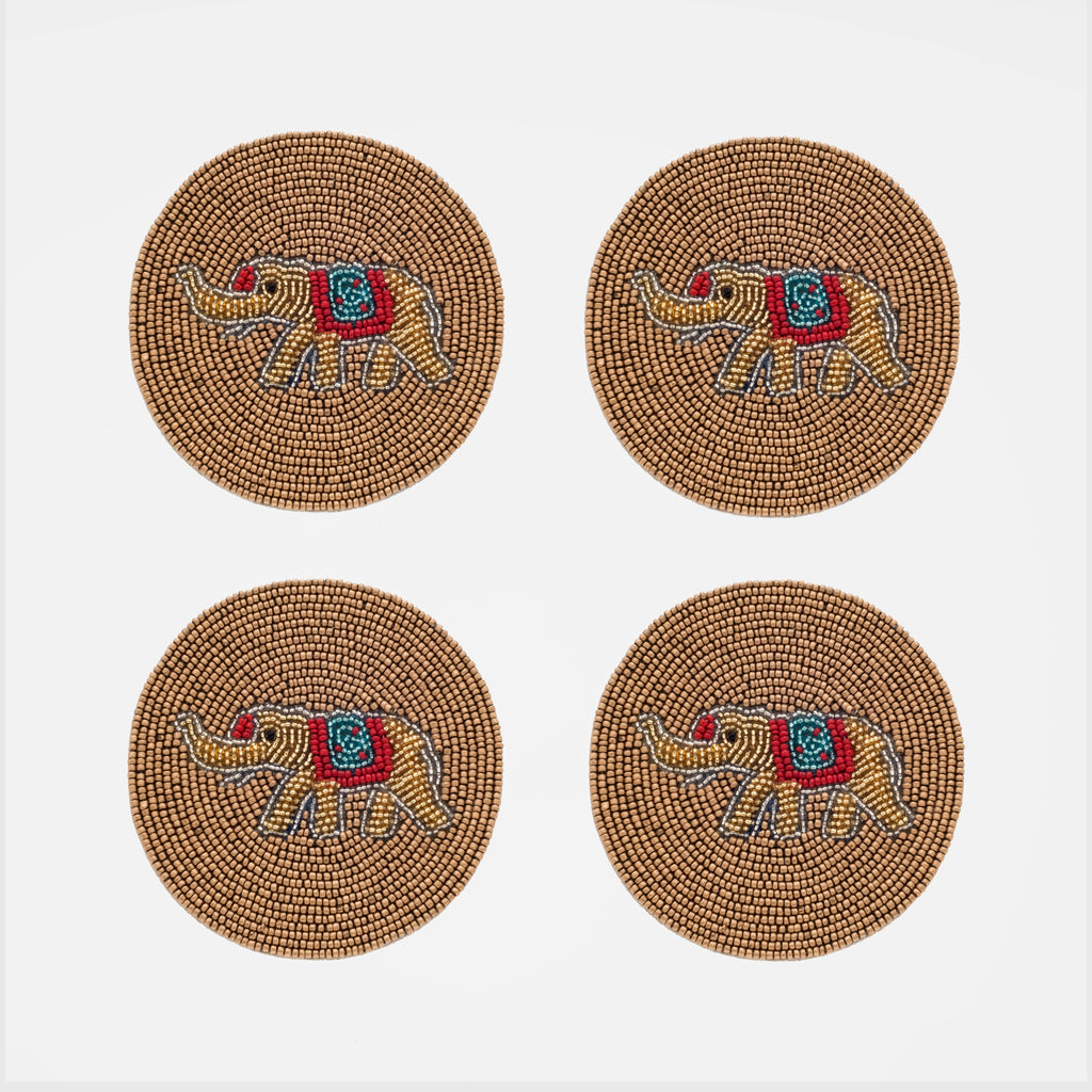 Elephant coasters, set of four
