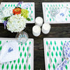 Tree print everyday placemat, blue with green, set of two