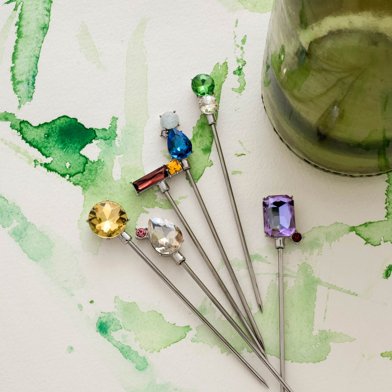 Jeweled cocktail picks