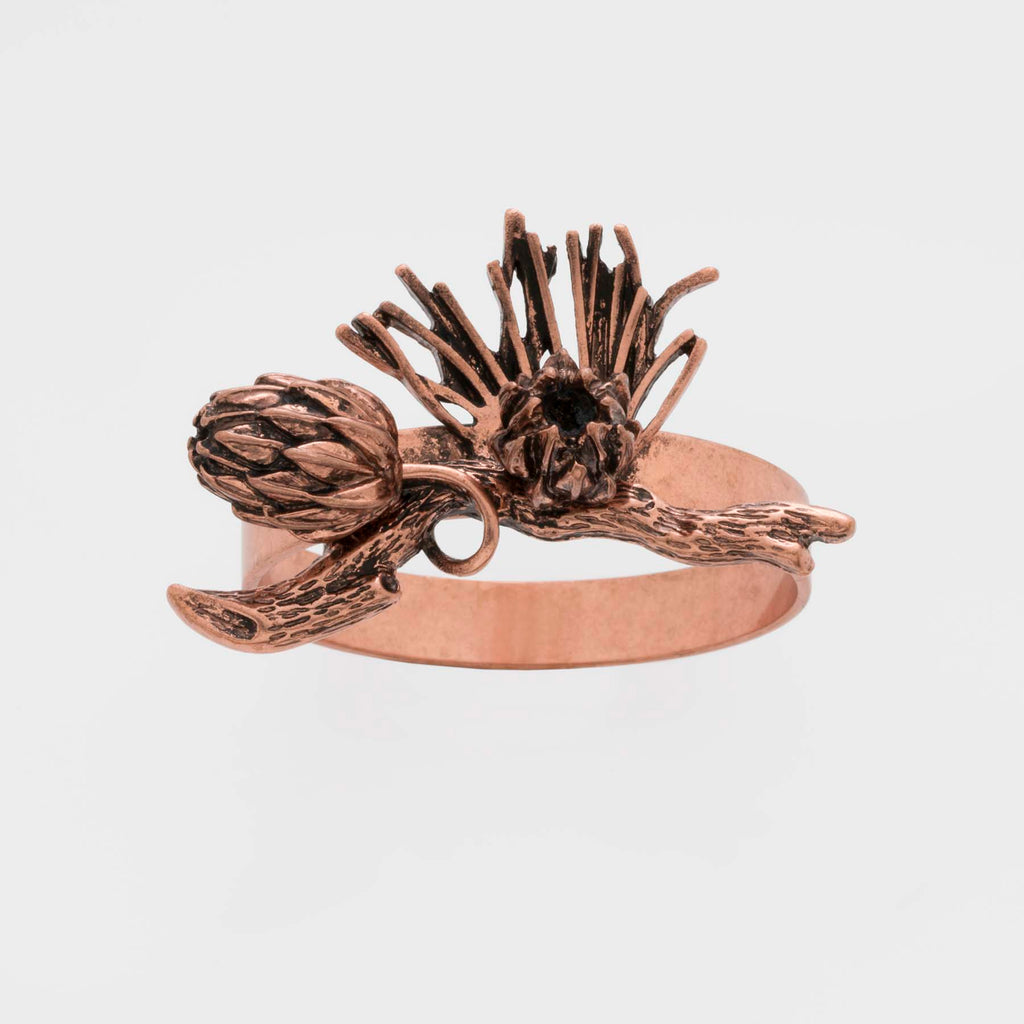 Pine cone skinny napkin rings, set of four