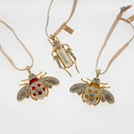 Jeweled insect hanging ornament set