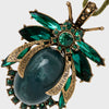 Vintage bug hanging ornament, emerald