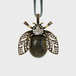 Sparkle bee hanging ornament, labradorite
