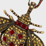 Classic bee hanging ornament, ruby