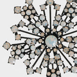 Sparkle snowflake ornament, black/ opal