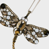 Hanging dragonfly ornament, gold