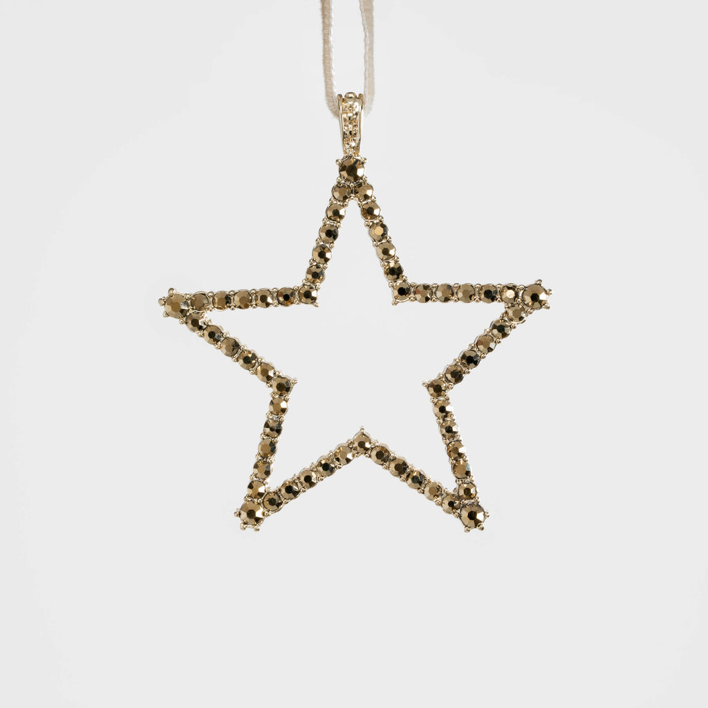 Star hanging ornament, gold