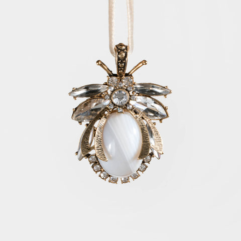 Pearl bug hanging ornament
