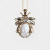 Vintage bug hanging ornament, agate