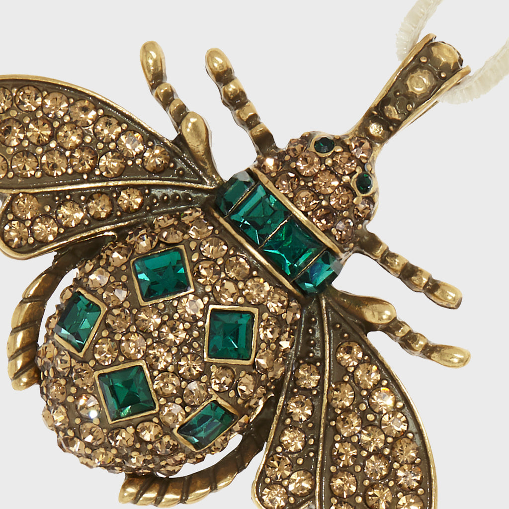 Jeweled insect hanging ornaments, ruby and emerald
