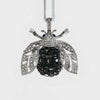 Sparkle bee hanging ornament, black diamond