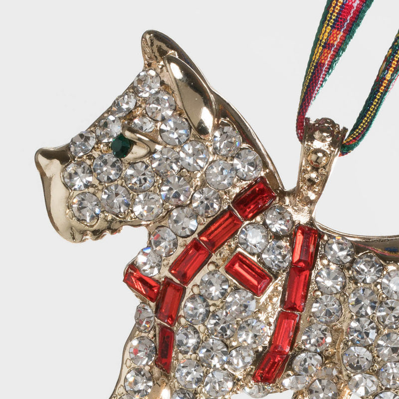 Scottie dog hanging ornament