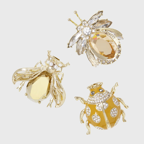 Jeweled insect hanging ornaments