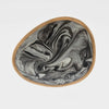Marbleized porcelain ring dish, grey