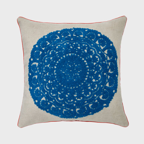 Moon pillow, natural linen