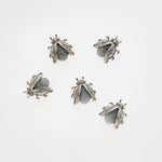 Mini bug magnets, grey agate