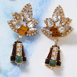 Starburst earrings, topaz