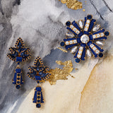 Starburst earrings, lapis lazuli
