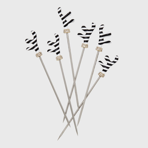 Stripey bee cocktail picks