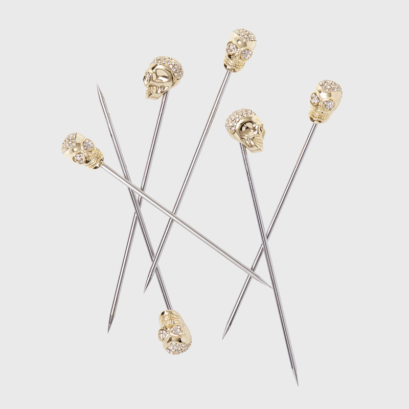Skull cocktail picks