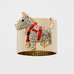 Scottie dog napkin rings, set of two