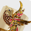 Joyful bird napkin rings, set of two