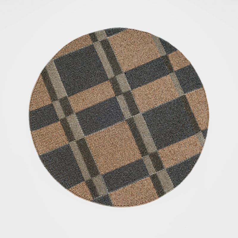 Plaid placemat, neutral
